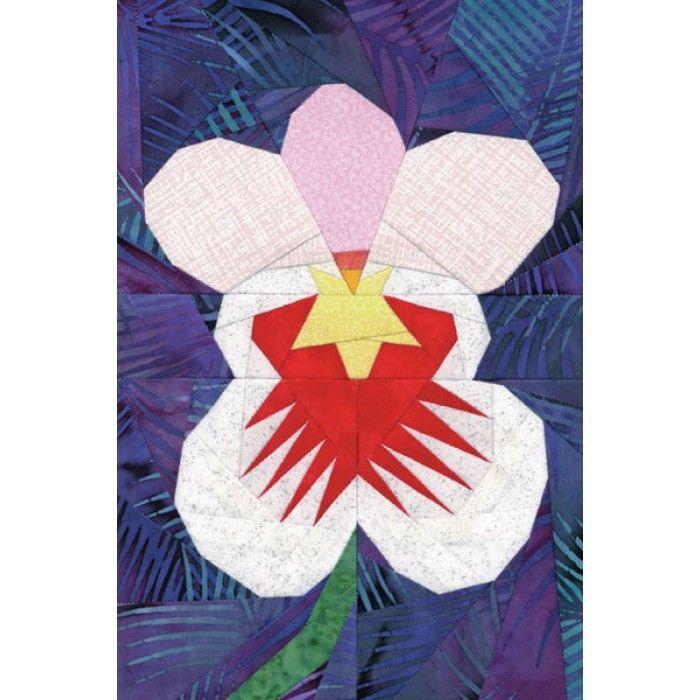 Miltoniopsis Orchid Quilt Pattern Quilt Patterns Quilts Orchids