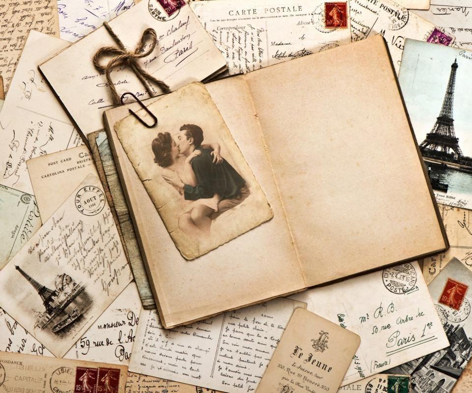 Vintage Love Letters 3 Vintage Postcards Old Paper Postcard