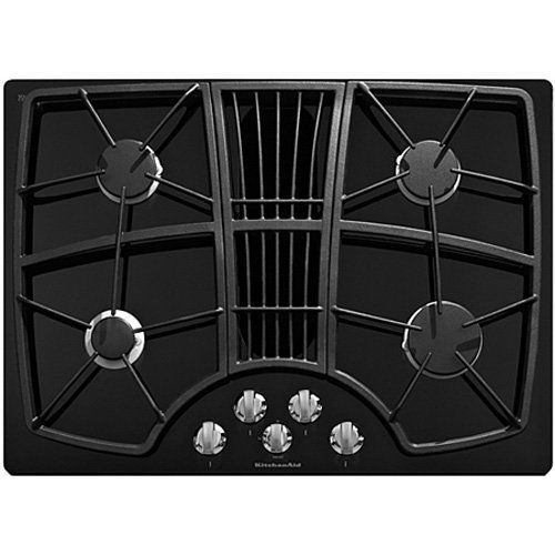 Amazing Kitchenaid Kgcd807Xbl 30 Inch 4 Burner Downdraft Cooktop By Interior Design Ideas Tzicisoteloinfo
