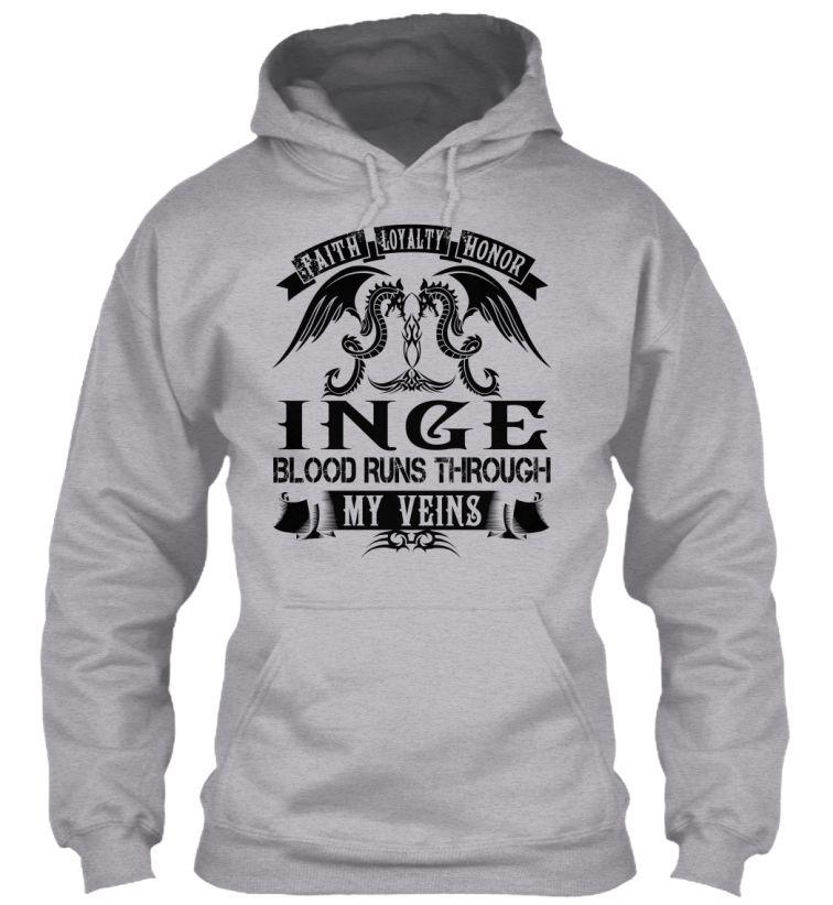INGE - My Veins Name Shirts #Inge