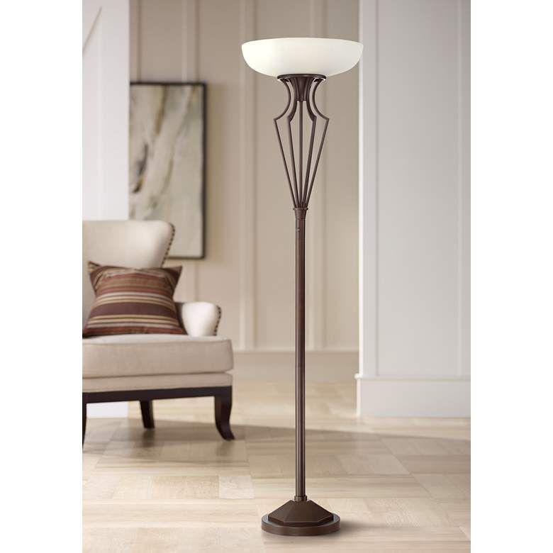 Volero Oil Rubbed Bronze Light Blaster Torchiere Floor Lamp 64m47 Lamps Plus Living Room Lamps In 2019 Torchiere Floor Lamp Floor Lamp Lamp Shades