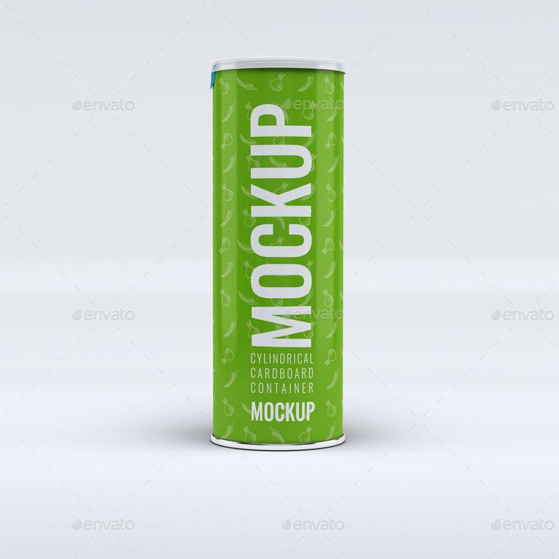 Cylindrical Cardboard Box MockUp