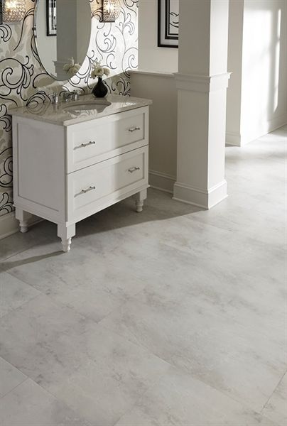 Stainmaster 18 In X 36 In Carrera Marble Luxury Vinyl Tile
