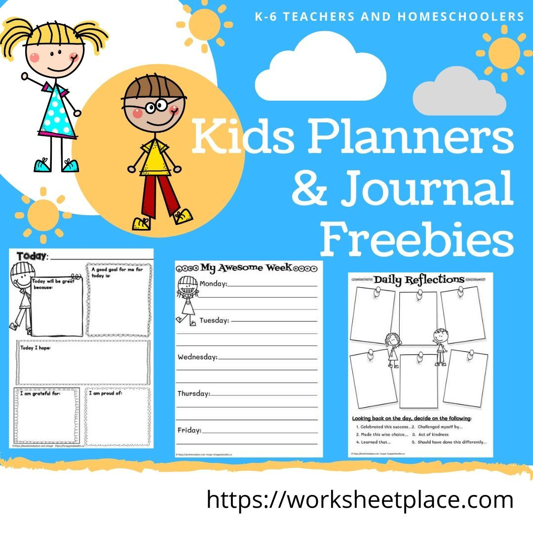 Free Templates For Journals And Planners For Kids And