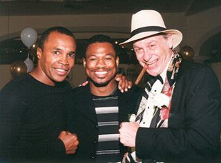 International Boxing Hall of Fame  Sugar Ray Leonard, Sugar Shane Mosley and Bert Randolph Sugar in Canastota for the 1999 Hall of Fame Weekend!