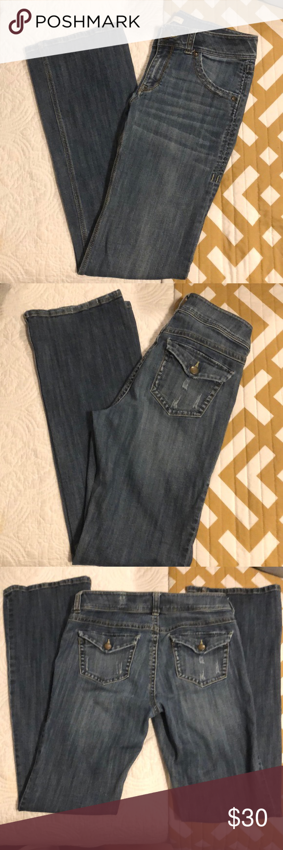 Cabo jeans size 8 Nice pair of distressed Cabi jeans  Approx