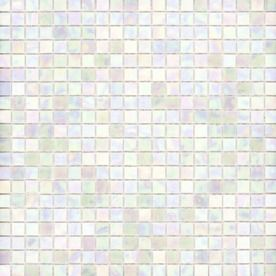 White Oyster Glass Mosaic Square Indoor Outdoor Wall Tile Common 13 In X 13 In Actual 12 75 In X 12 75 In Iridescent Glass Tiles Wall Tiles Mosaic Glass