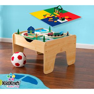 KidKraft 2 In 1 Activity Table With Board   Natural With 230 Accessories  Included   Walmart.com