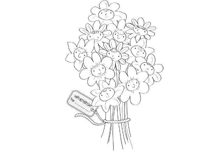 Photo of Disegno per la festa della mamma con un bouquet