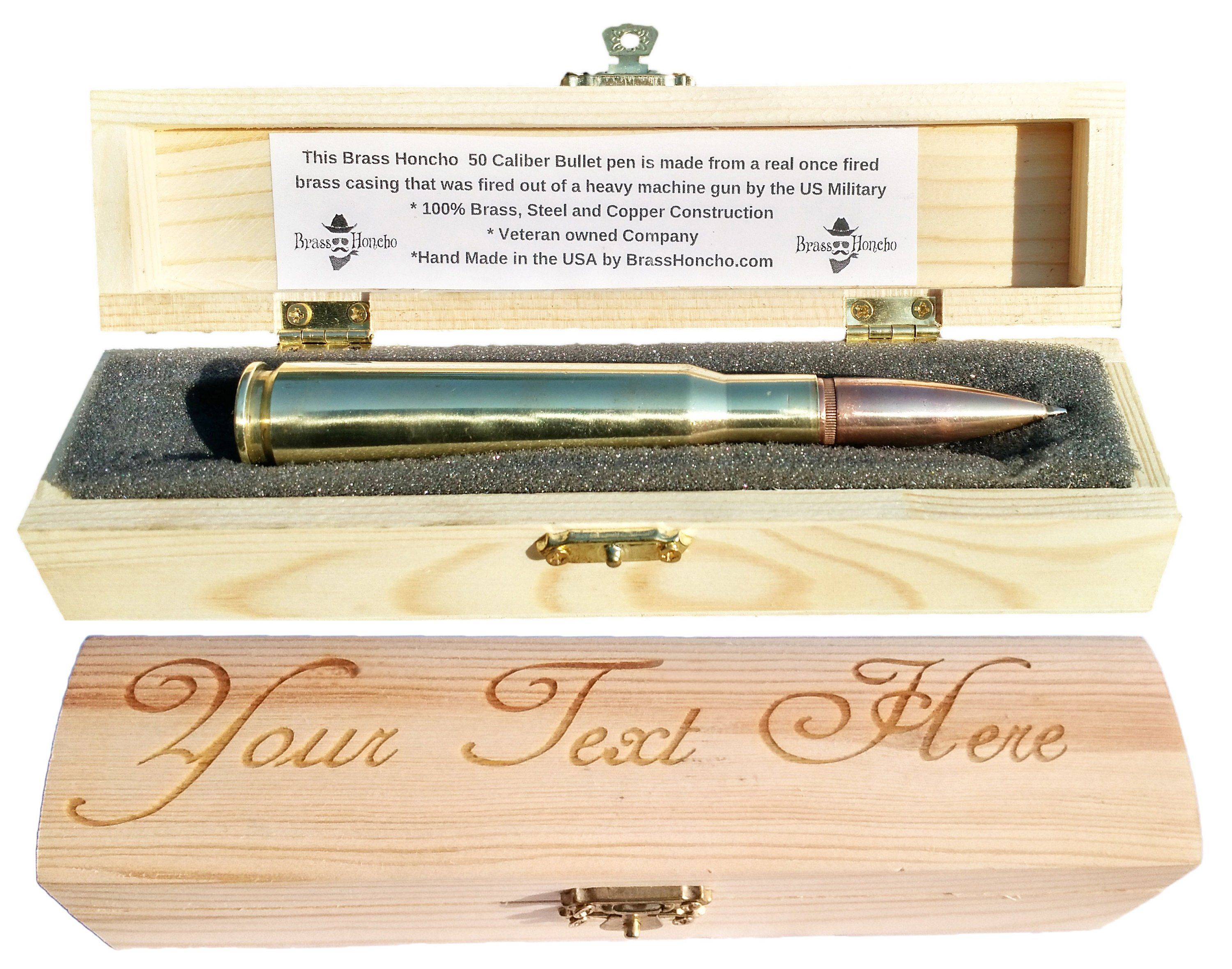 7th copper anniversary gifts for men bullet pen in