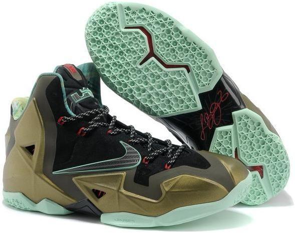 http://www.asneakers4u.com LeBron James XI Men Shoes in Black