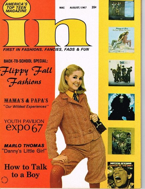 In Magazine * August 1967 * Vintage Teen Mag * 60ies Hairstyles * 60ies Fashion…