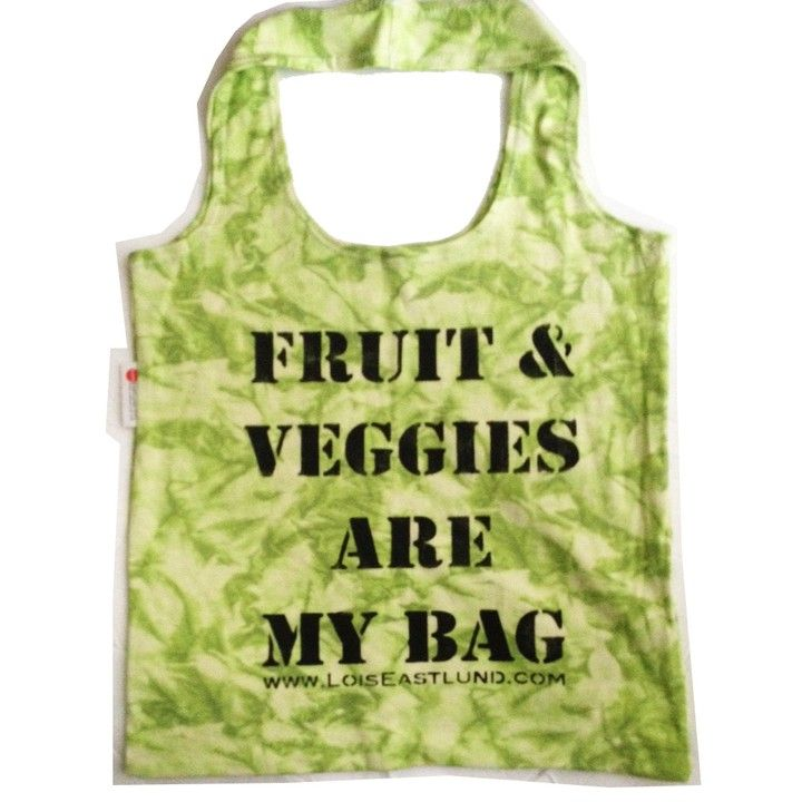 Fruit Veggies Green Tie Dye Tote from Lois Eastlund for $30.00