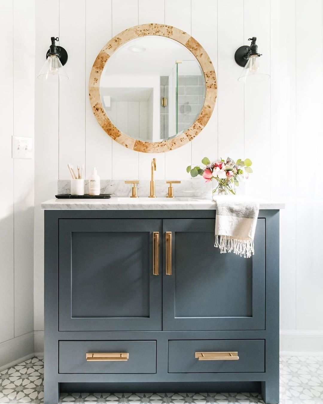 Cb2 On Instagram Tfw All The Hardware Matches Cohesivelycurated Link In Bio To Shop The Hardware S Vanity Design Blue Bathroom Vanity Timeless Bathroom