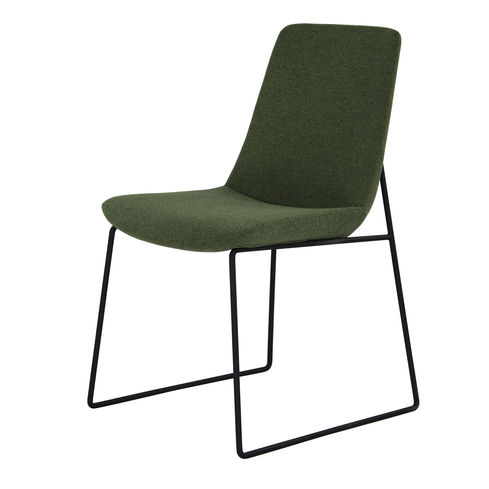 Minimal And Sleek Are Two Words To Describe Our Clark Dining Chairs Green Dining Chairs Steel Dining Chairs Dining Chairs