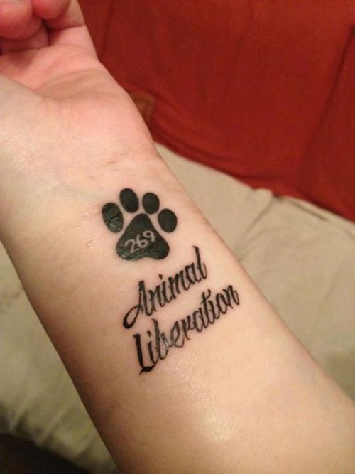 269life Animalliberation Vegan 269 Vegan Tattoo Tattoos Paw