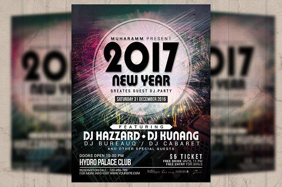 New Year Party Flyer  Poster Creativework  Flyer Templates