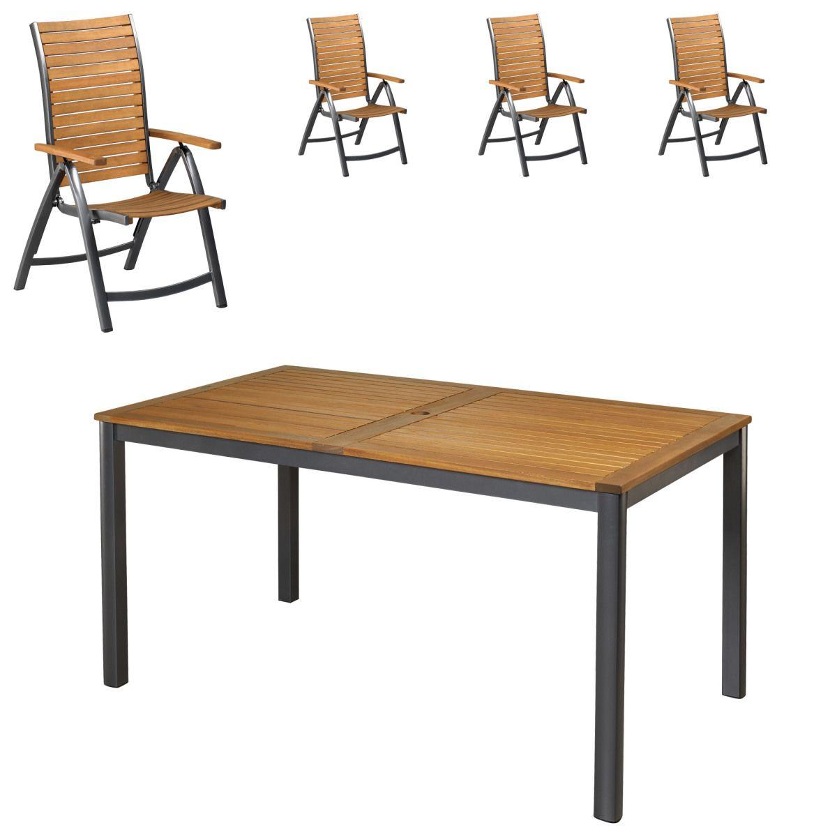 Gartenmöbel-Set San Francisco/Boston (89x150, 4 Stühle) Jetzt ...