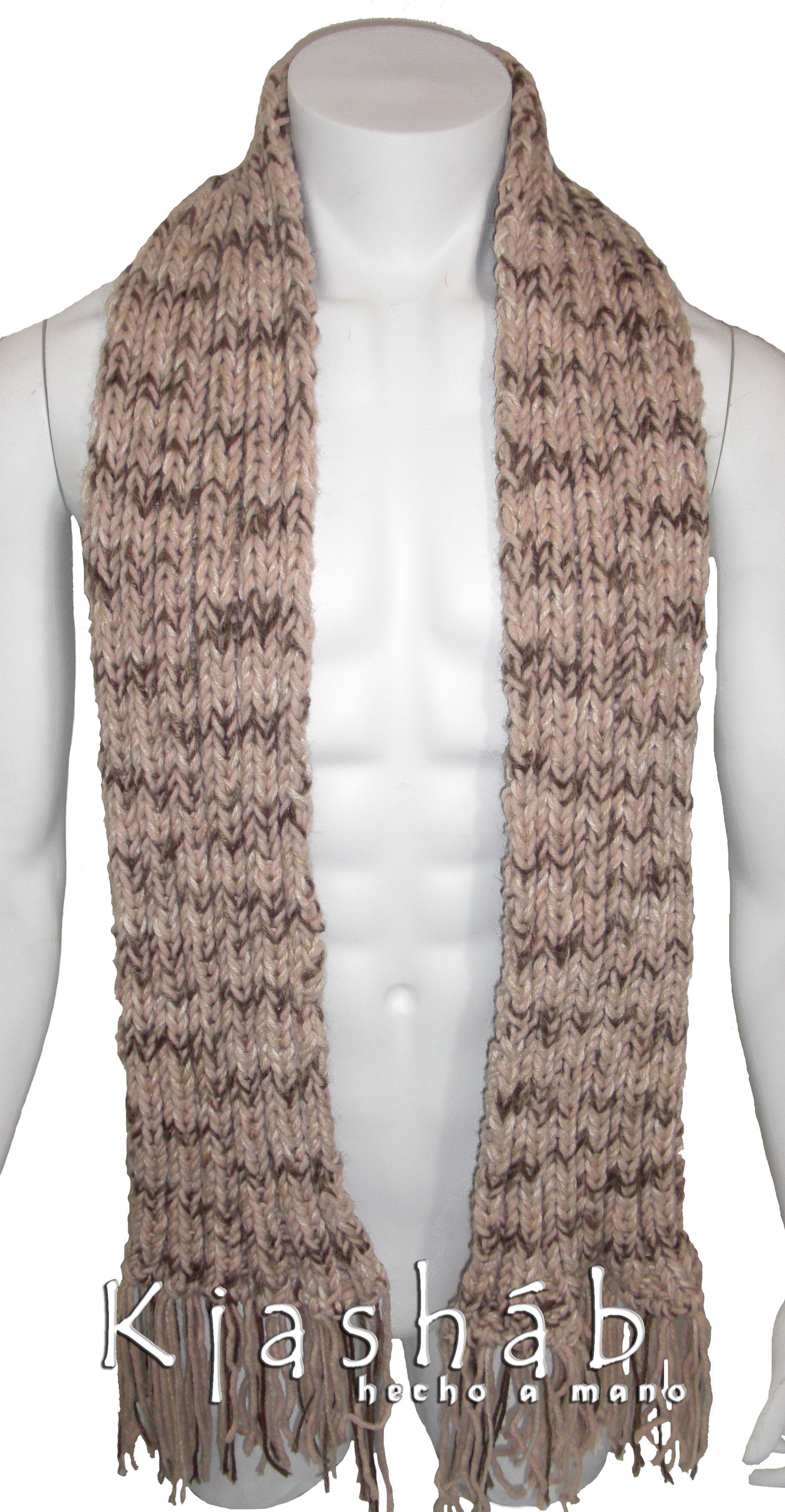Bufanda de hombre, tejida en dos agujas. | Dos agujas | Pinterest