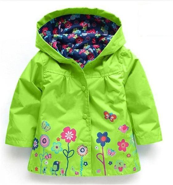 44720f571343 LZH Baby Girls Jacket For Girl Raincoat Coat Kids Boys Warm Outerwear Coat  2017 Spring Autumn Girls Trench Coat Children Clothes