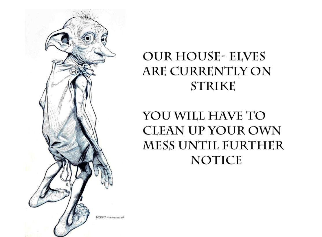 Dobby The House Elf Free Printable I Used To Hang This In My