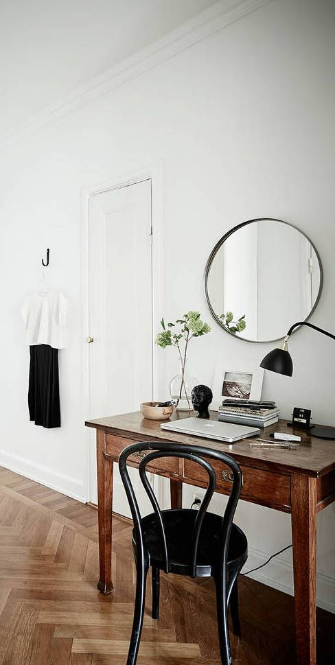 cozy home office. cozy home with a vintage touch via coco lapine design office