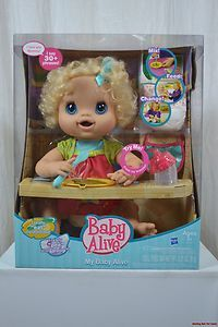 My Baby Alive Baby Doll Blonde Poops Pees Laugh Talks Food Diapers ... 015ad17e87