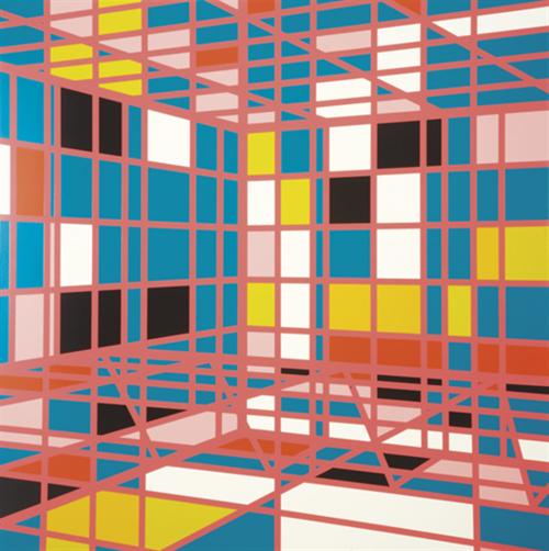 heathwest:  Sarah MorrisPools-Hotel Impala (Miami), 2002Household gloss paint on canvas841/4 x 841/4 in.