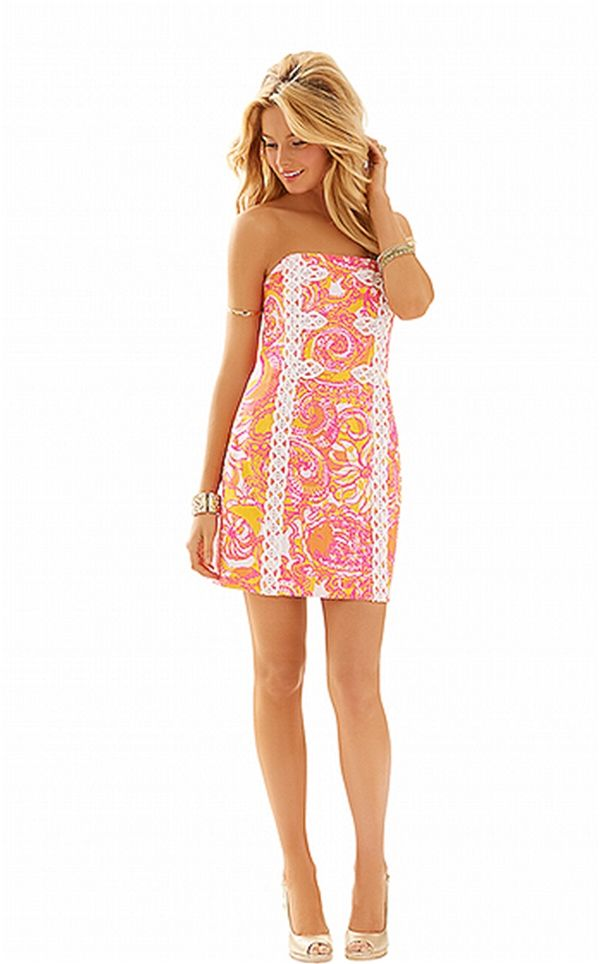 a0b879f28a79 lilly pulitzer tansy strapless dress sunshine yellow - Google Search ...