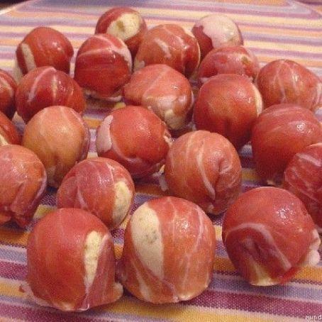 Bombones de jamón a las finas hierbas con Thermomix
