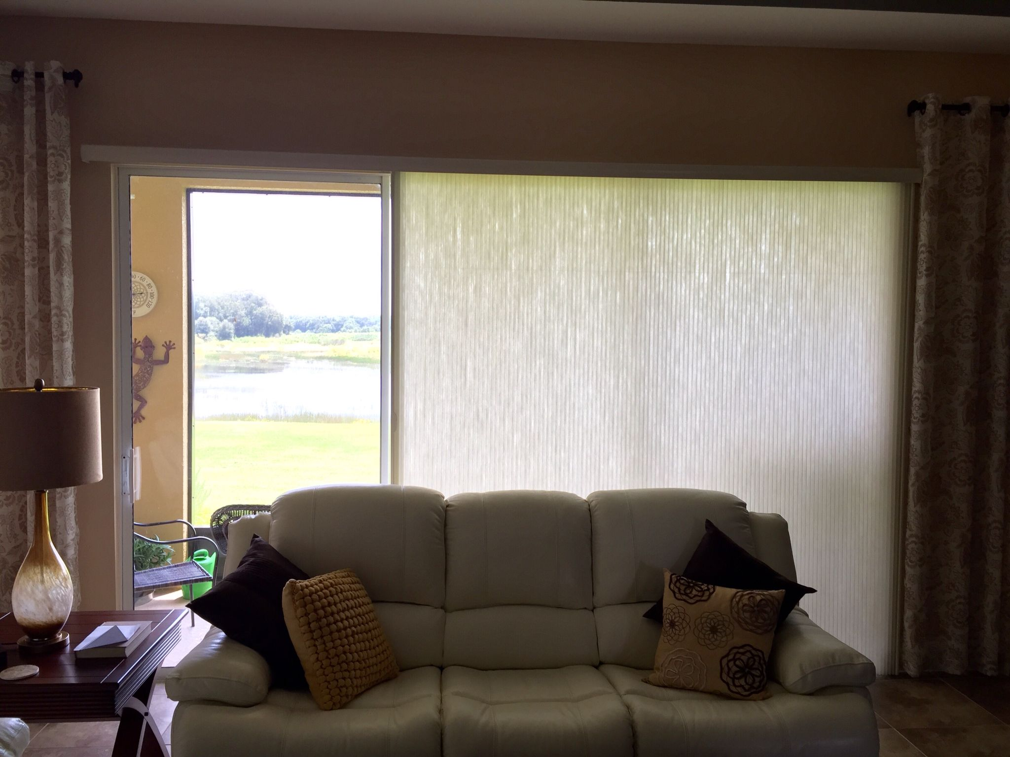 Vertical Cell Shade By Enlightened Style Available At Budget Blinds Of Clermont Custom Window Treatments Cell Shade Cordless Blinds