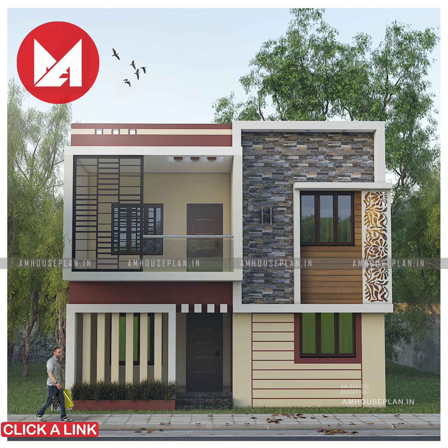 28 X 60 Simple Indian House Plan And Elevation In 2020 House Plans Indian Homes Small House Elevation