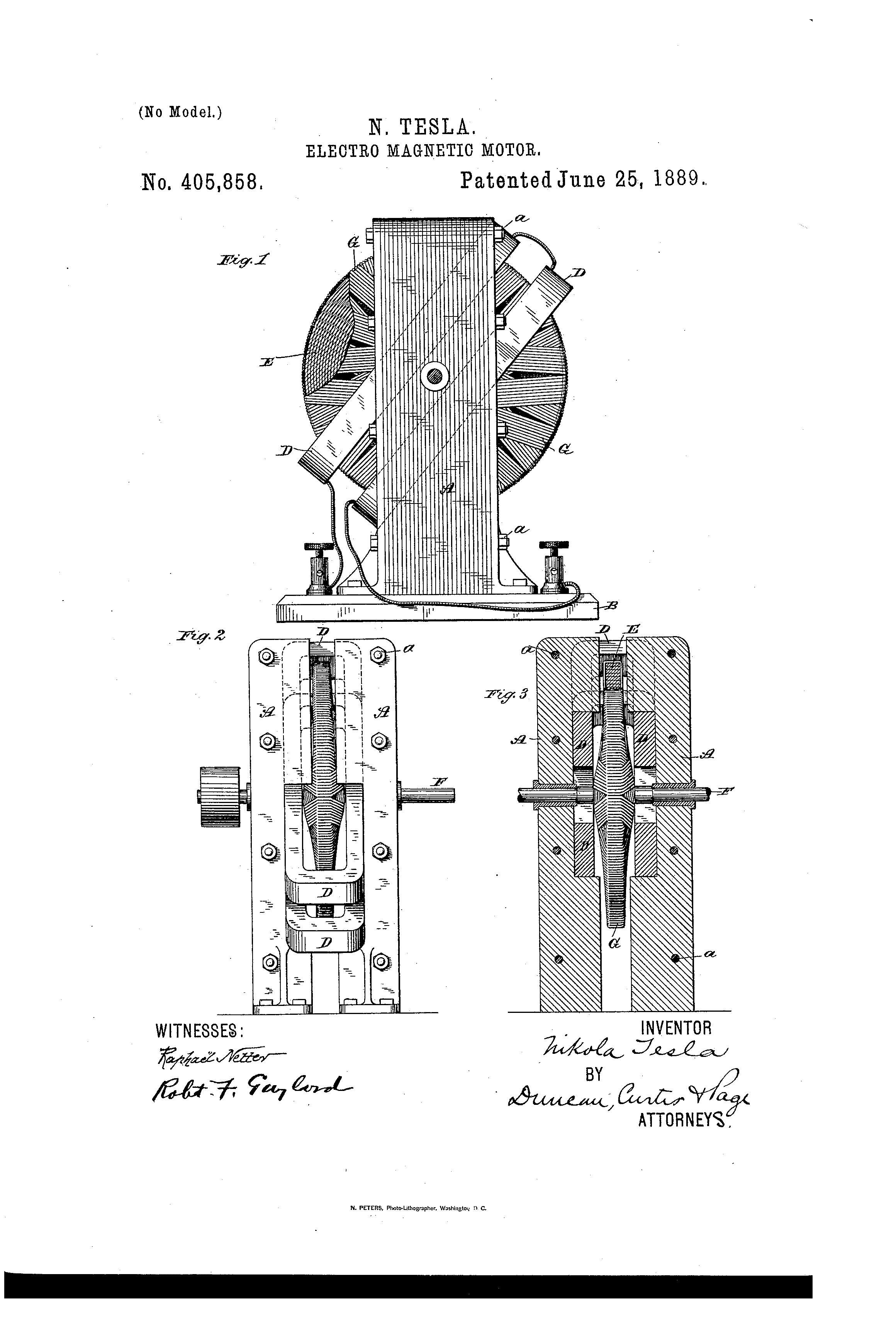 nikola tesla - electro magnetic motor