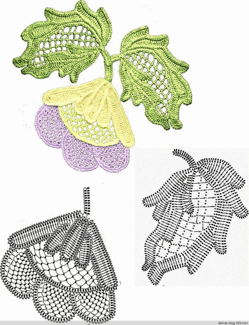 Crochet leaves | Crochet : Ruso,Irlandes,rumano y Olgemi | Pinterest ...
