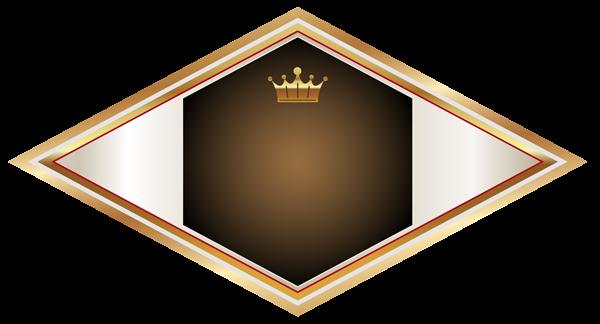 Золотые и коричневые этикетки с золотой короной PNG клипарт изображения