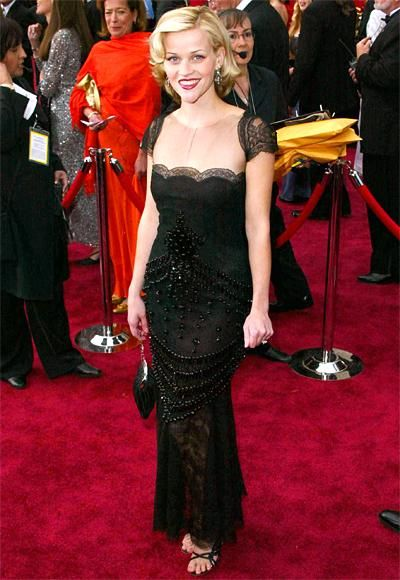 The Most Breathtaking Oscars Gowns - Reese Witherspoon, 2002 from #InStyle