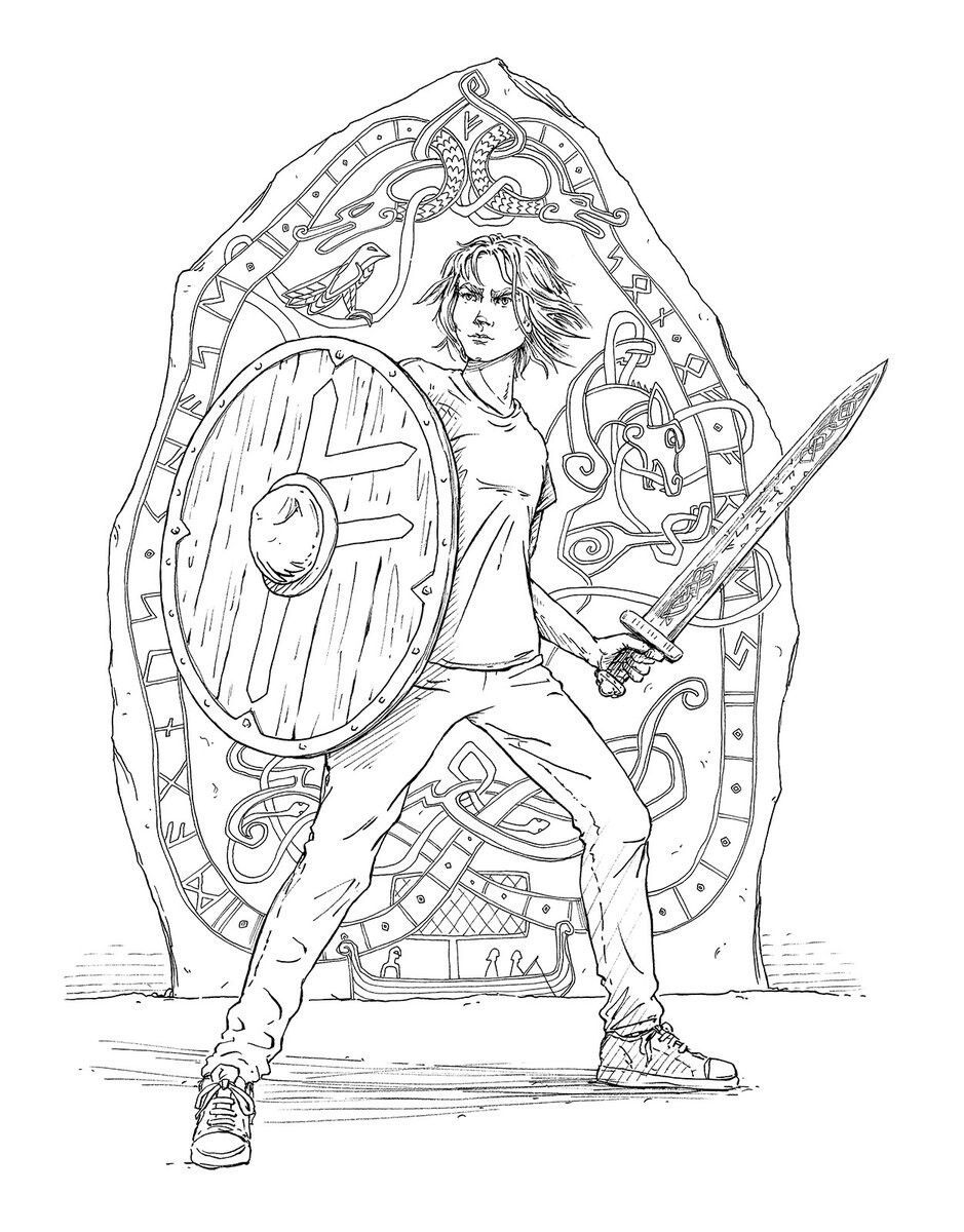 Image Result For The Magnus Chase Coloring Book Coloring Pages