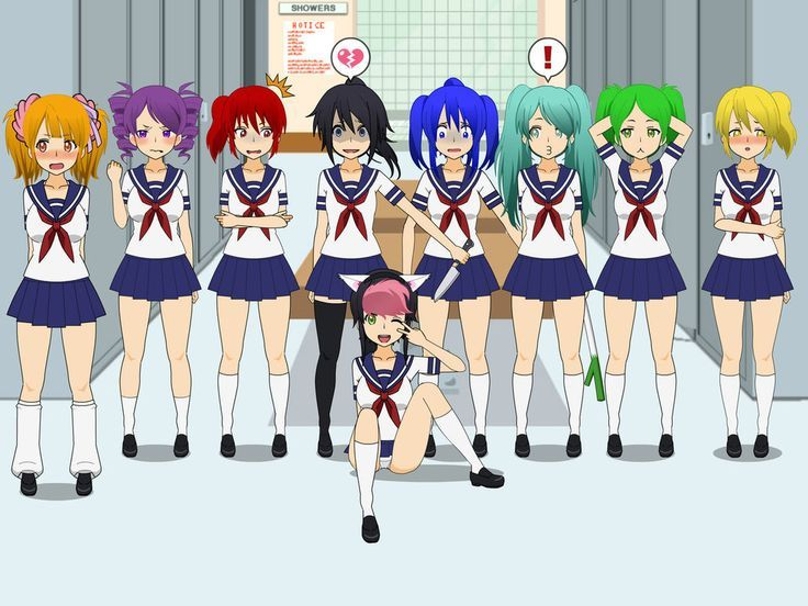 yandere simulator coloring pages the girl delinquents yandere simulator coloring pages   Google  yandere simulator coloring pages