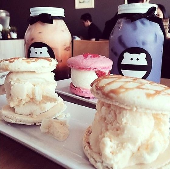 Ca Macarons From Snow Monster California Usa There Are Three Snow Monster Locations In Orange County Westminster Huntington B Food Beach Meals Cafe Food