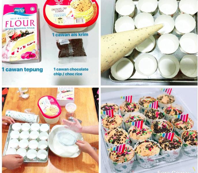 Guna 3 Bahan Saja Dah Boleh Buat Muffin Aiskrim Viral Ini Info Hokaloh News Muffin Food Food And Drink