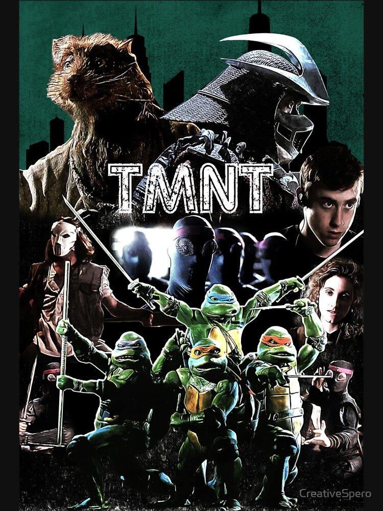 Tmnt 1990 Movie Normal Version Slim Fit T Shirt Tmnt Teenage Mutant Ninja Turtles Art Teenage Mutant Ninja Turtles