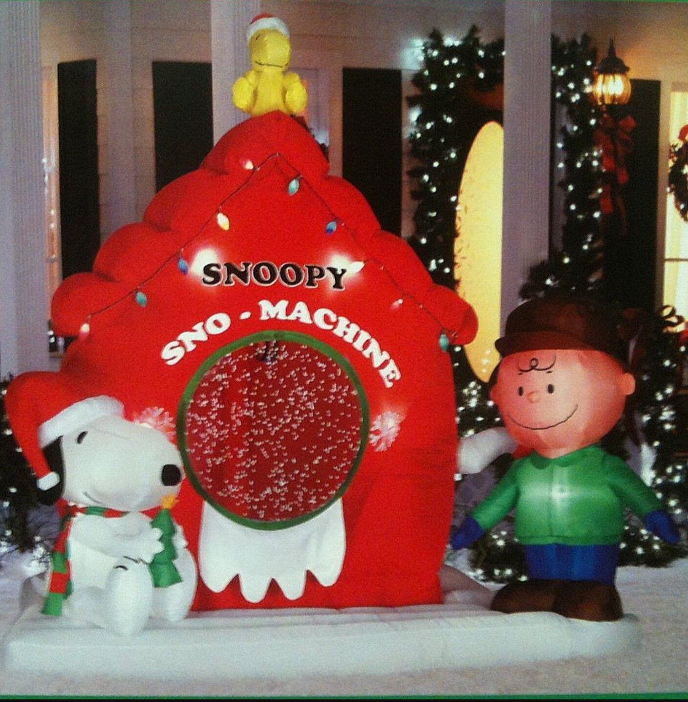 Peanuts Christmas inflatable yard decorations