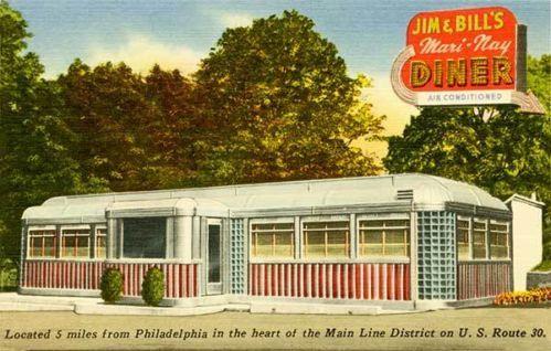 King Of Prussia Pa Jim Bill S Diner Postcard Print Ebay Diner Postcard Vintage Diner