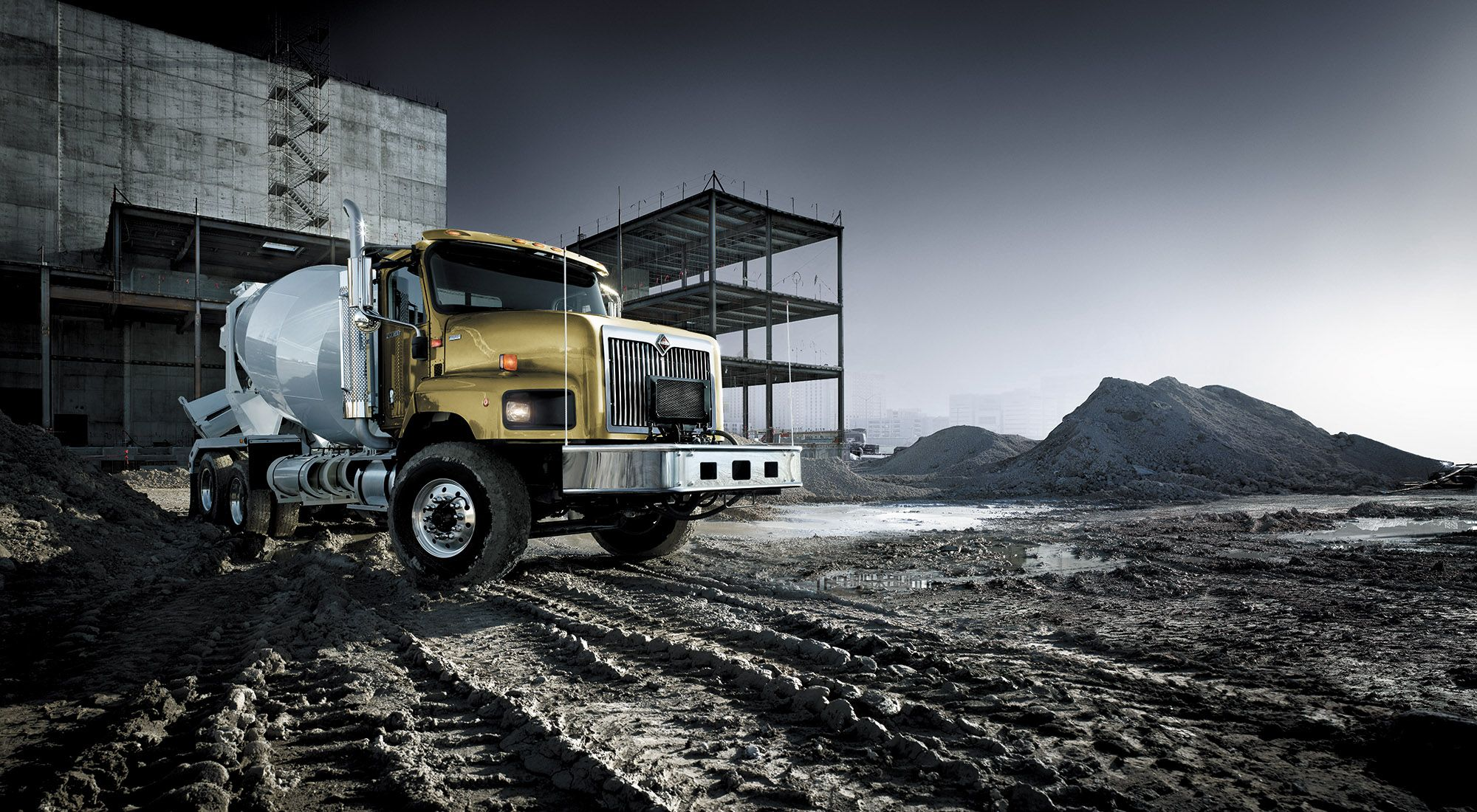 Photo retouching 20 image composites for International Truck. Photographer:  Markus Wendler, Germany. Explore more high end advertising retouching and Photoshop work from Filtre Studio Chicago at filtrestudio.com