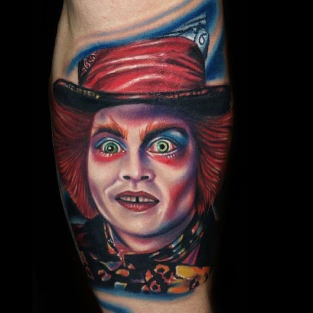 Tatuaje Calavera Johnny Depp the mad hatter johnny depp tattoo | tattoo's | pinterest | tattoos