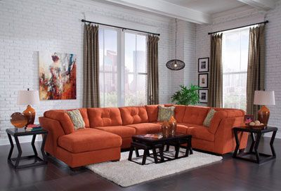 Kessy Orange Sectional 1949