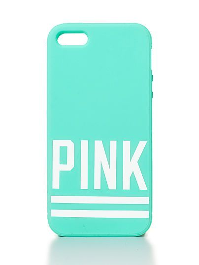 new concept bbab7 f2878 VS PINK Soft iPhone® 4/4S/5 Case in Teal | Cute | Iphone case covers ...