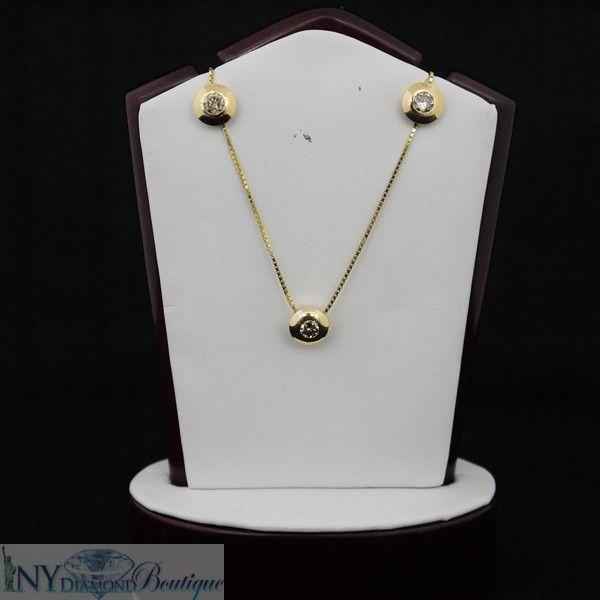 14k Yellow Gold Cognac 1.00 ct Diamond Earring and Pendant Set