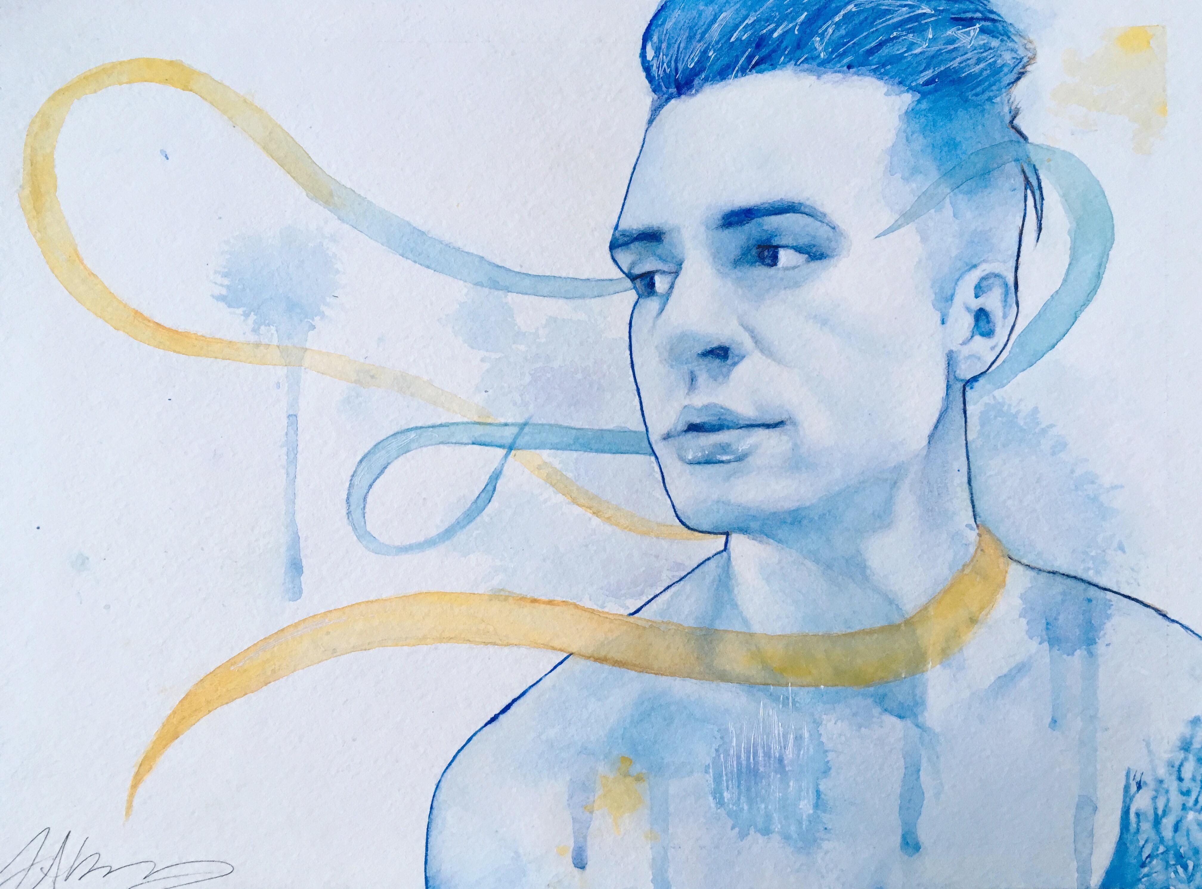 "Art Brendon Urie Watercolor 8.5""x11"""