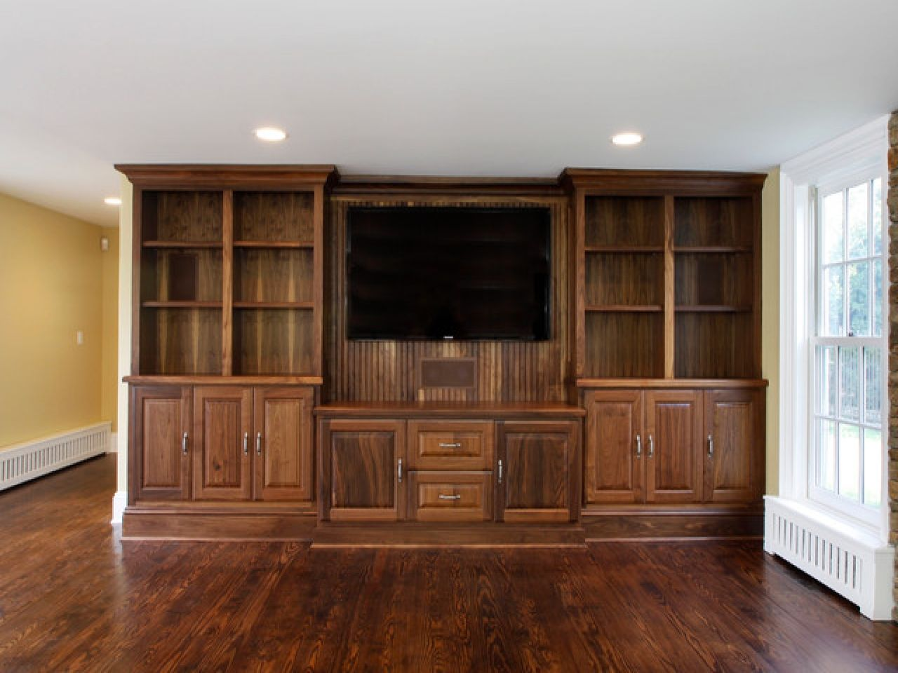 Inspiration For Living Room Storage Ideas Also Dark Wood Flooring With Living Room Cabinets Or Living Room Wood Floor Luxury Living Room Living Room Built Ins